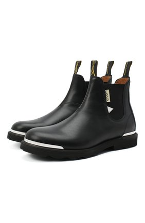 Мужские кожаные челси LANVIN черного цвета, арт. FM-B0EMET-LUXE-A20 | Фото 1