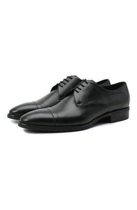 Мужской кожаные дерби ALDO BRUE черного цвета, арт. AB603FPK-NL.P.2D70R   Фото 1