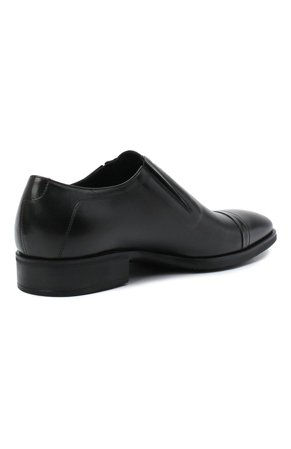 Мужские кожаные лоферы ALDO BRUE черного цвета, арт. AB604FPK-NL.P.2D70R | Фото 4
