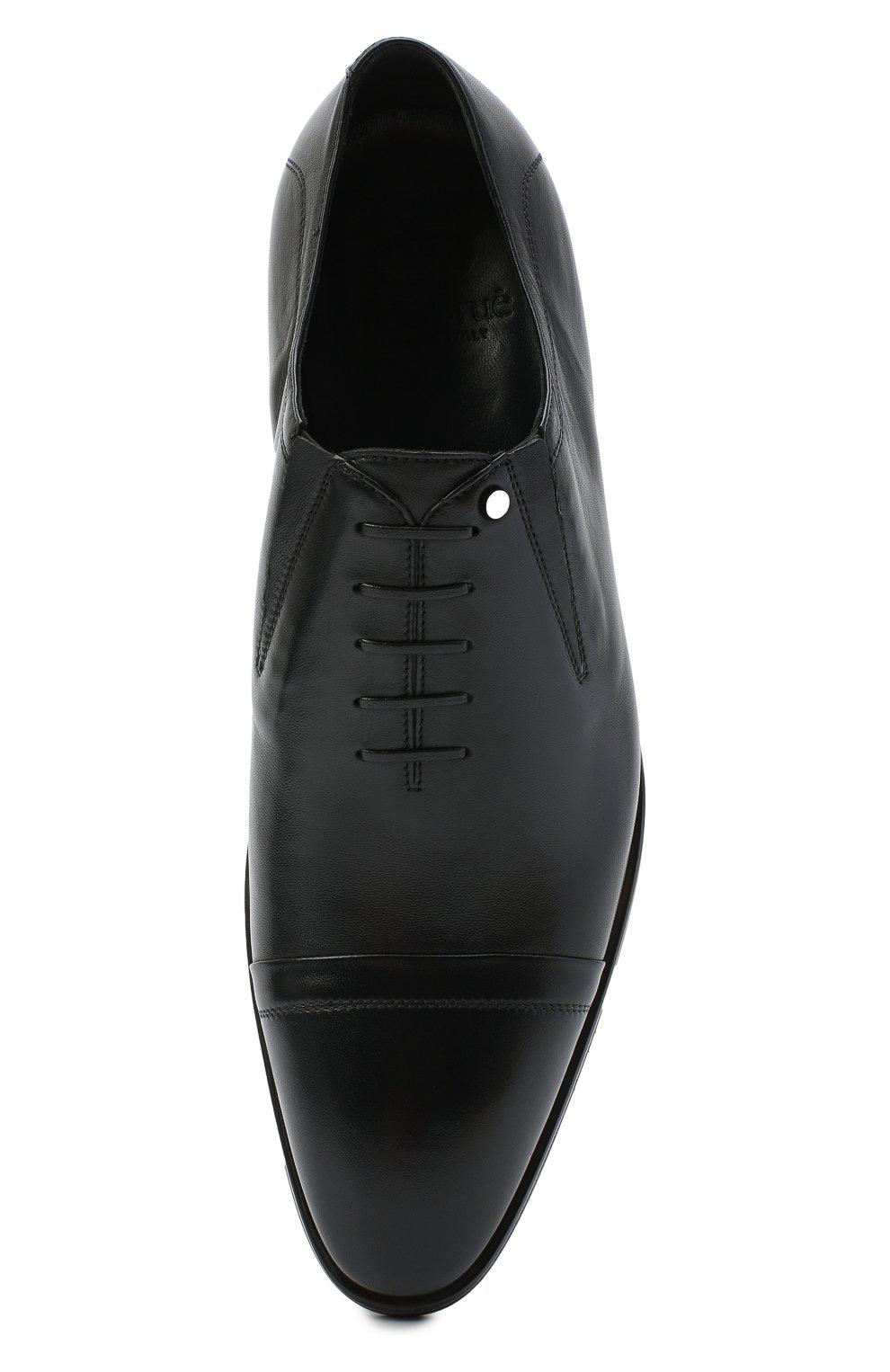Мужские кожаные лоферы ALDO BRUE черного цвета, арт. AB604FPK-NL.P.2D70R | Фото 5