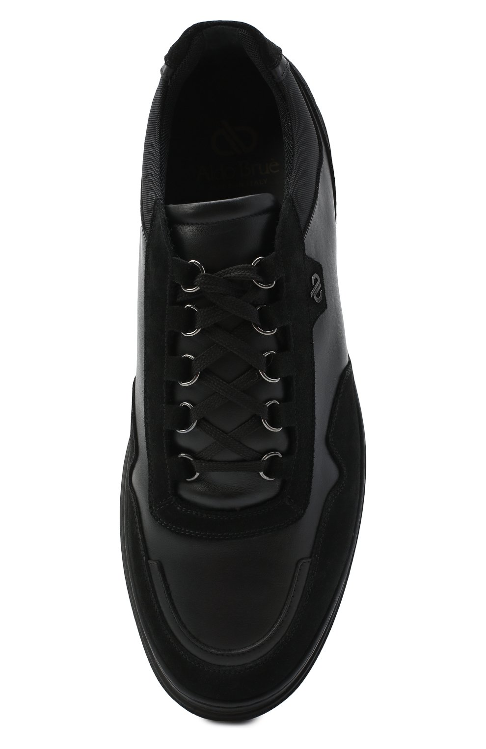 Мужские комбинированные кеды ALDO BRUE черного цвета, арт. AB6153K-VSSNT.T.FC   Фото 5