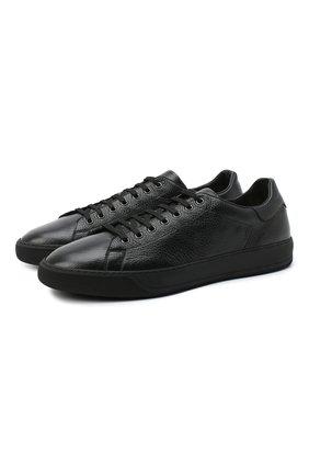 Мужские кожаные кеды ALDO BRUE черного цвета, арт. ABG01K-VP.P.960   Фото 1