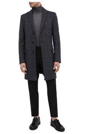 Мужские кожаные кеды ALDO BRUE черного цвета, арт. ABG01K-VP.P.960   Фото 2