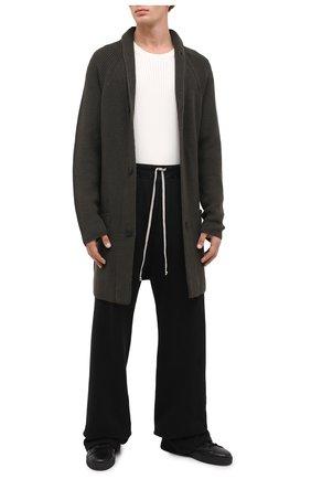 Мужская шерстяной кардиган TRANSIT хаки цвета, арт. CFUTRM14491   Фото 2