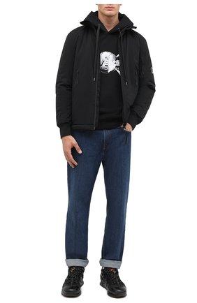 Мужская утепленная куртка C.P. COMPANY черного цвета, арт. 09CM0W058A-004117A | Фото 2