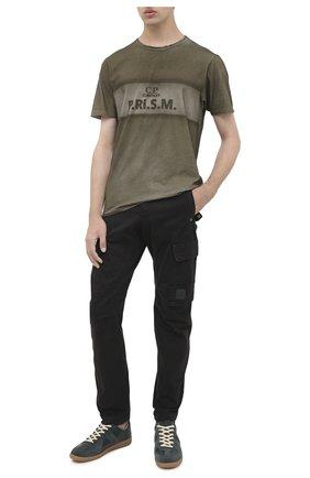 Мужской хлопковые брюки-карго C.P. COMPANY черного цвета, арт. 09CMPA135A-005529G | Фото 2