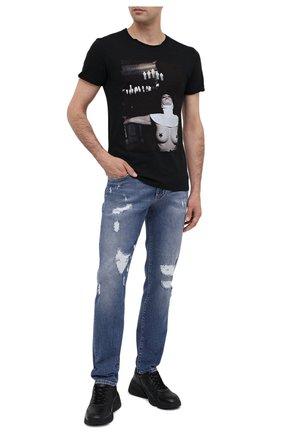 Мужская хлопковая футболка BISIBIGLIO черного цвета, арт. CHURCH SPIRIT | Фото 2