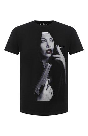 Мужская хлопковая футболка BISIBIGLIO черного цвета, арт. CIGAR SIS NUN/PESANTE | Фото 1