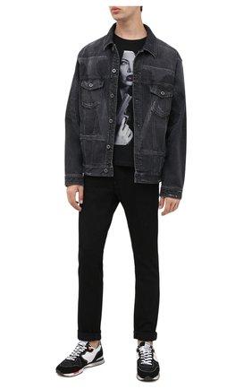 Мужская хлопковая футболка BISIBIGLIO черного цвета, арт. CIGAR SIS NUN/PESANTE | Фото 2