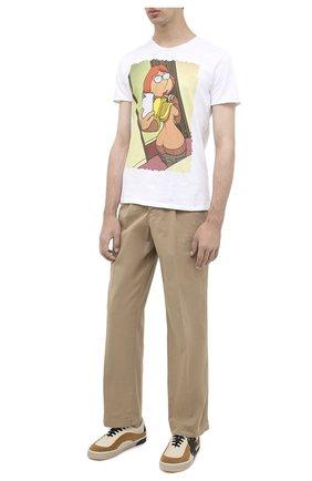 Мужская хлопковая футболка BISIBIGLIO белого цвета, арт. L0IS SELFIE BACL | Фото 2