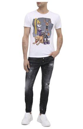 Мужская хлопковая футболка BISIBIGLIO белого цвета, арт. LU ER0TIC TIMES | Фото 2
