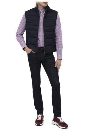 Мужская хлопковая рубашка POLO RALPH LAUREN розового цвета, арт. 710804256/4666B | Фото 2