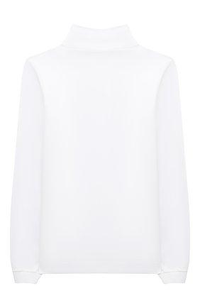 Детская хлопковая водолазка LORO PIANA белого цвета, арт. FAL2484   Фото 2