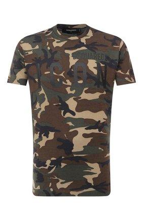 Мужская футболка из вискозы DSQUARED2 разноцветного цвета, арт. S79GC0009/S23723 | Фото 1