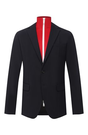 Мужской шерстяной пиджак DSQUARED2 темно-синего цвета, арт. S74BN1002/S40320 | Фото 1