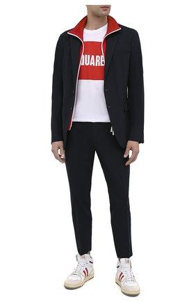Мужской шерстяной пиджак DSQUARED2 темно-синего цвета, арт. S74BN1002/S40320 | Фото 2