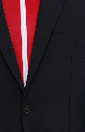 Мужской шерстяной пиджак DSQUARED2 темно-синего цвета, арт. S74BN1002/S40320   Фото 6 (Материал внешний: Шерсть; Рукава: Длинные; Случай: Повседневный; Длина (для топов): Стандартные; Материал подклада: Синтетический материал; 1-2-бортные: Однобортные; Пиджаки М: Приталенный; Стили: Кэжуэл)