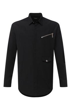 Мужская хлопковая рубашка DSQUARED2 черного цвета, арт. S74DM0469/S36275 | Фото 1