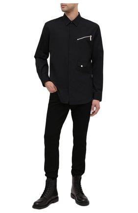 Мужская хлопковая рубашка DSQUARED2 черного цвета, арт. S74DM0469/S36275 | Фото 2