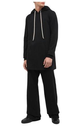 Мужские хлопковые брюки DRKSHDW черного цвета, арт. DU20F1372 F   Фото 2