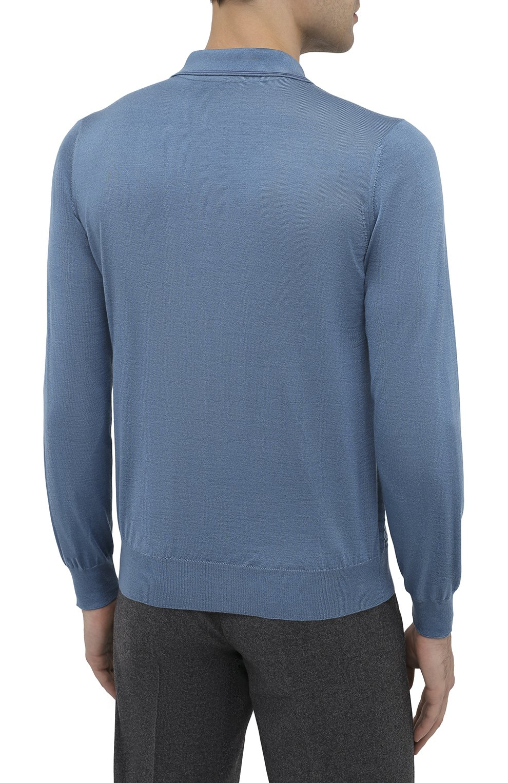 Мужское поло из кашемира и шелка ZILLI голубого цвета, арт. MBU-PZ082-VAWA1/ML01 | Фото 5