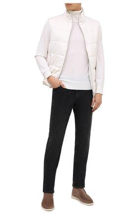 Мужские джинсы ZILLI темно-серого цвета, арт. MCU-00070-SSN01/S001 | Фото 2