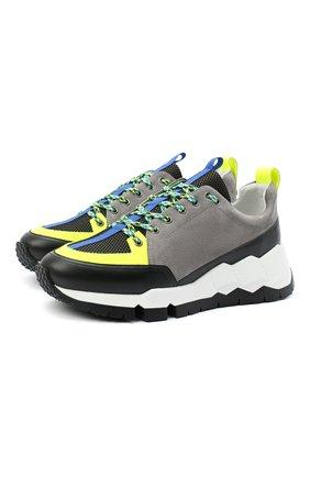 Мужские комбинированные кроссовки PIERRE HARDY разноцветного цвета, арт. QX02/SUEDE CALF-CALF MESH   Фото 1