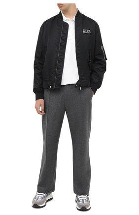 Мужские комбинированные кроссовки PIERRE HARDY серого цвета, арт. SX07/SUEDE CALF-MESH CALF | Фото 2