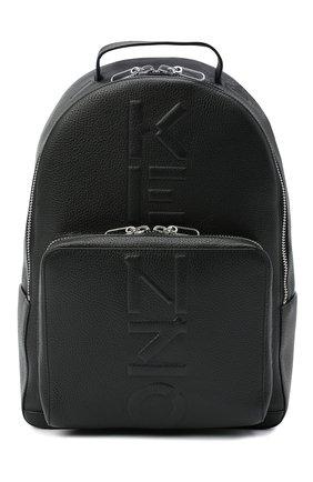 Мужской кожаный рюкзак KENZO черного цвета, арт. FA65SA501L45   Фото 1
