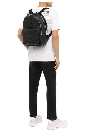 Мужской кожаный рюкзак KENZO черного цвета, арт. FA65SA501L45   Фото 2