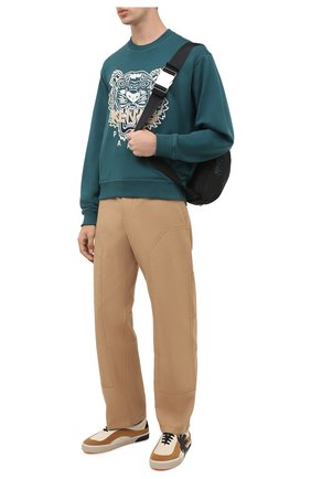 Мужской хлопковый свитшот KENZO зеленого цвета, арт. FA65SW1104XA | Фото 2