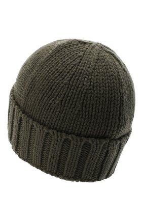 Мужская шерстяная шапка STONE ISLAND хаки цвета, арт. 7315N17D6 | Фото 2