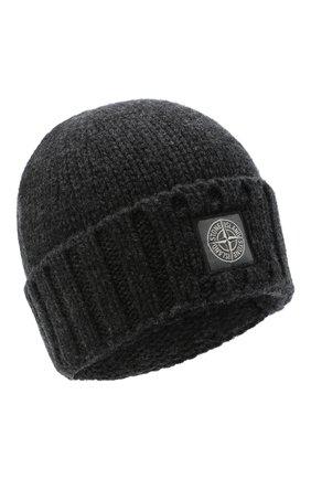 Мужская шерстяная шапка STONE ISLAND темно-серого цвета, арт. 7315N17D6 | Фото 1