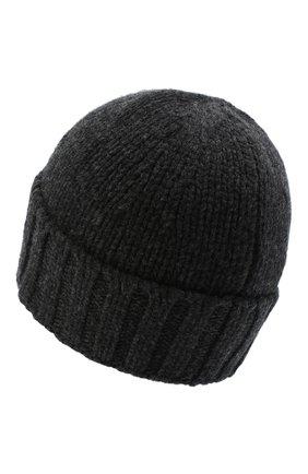 Мужская шерстяная шапка STONE ISLAND темно-серого цвета, арт. 7315N17D6 | Фото 2
