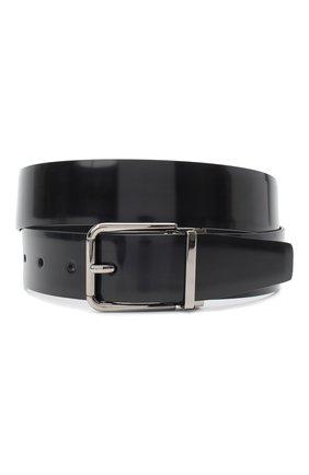 Мужской кожаный ремень DOLCE & GABBANA черного цвета, арт. BC4524/AI935 | Фото 1