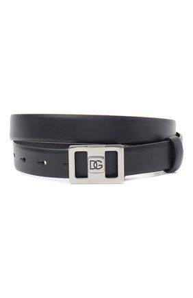 Мужской кожаный ремень DOLCE & GABBANA черного цвета, арт. BC4497/AX622 | Фото 1