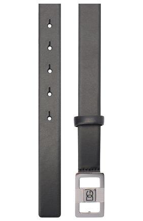 Мужской кожаный ремень DOLCE & GABBANA черного цвета, арт. BC4497/AX622 | Фото 2