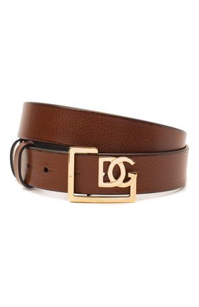 Мужской кожаный ремень DOLCE & GABBANA коричневого цвета, арт. BC4476/AV480 | Фото 1