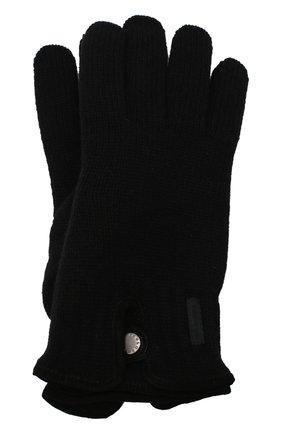 Мужские шерстяные перчатки PAUL&SHARK черного цвета, арт. I20P7201/HC7 | Фото 1
