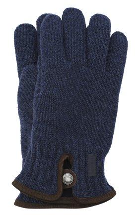 Мужские шерстяные перчатки PAUL&SHARK синего цвета, арт. I20P7201/HC7 | Фото 1