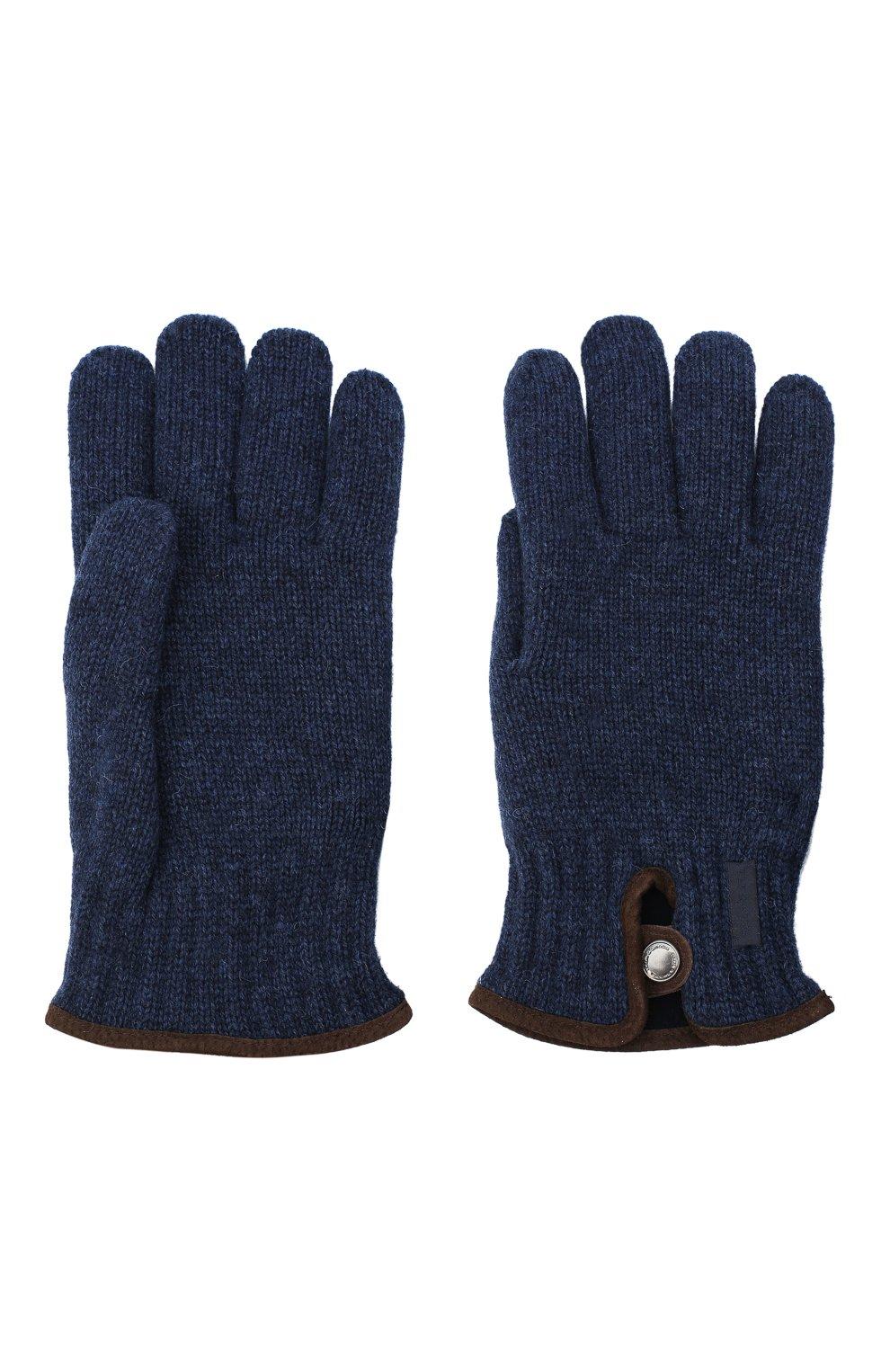 Мужские шерстяные перчатки PAUL&SHARK синего цвета, арт. I20P7201/HC7 | Фото 2