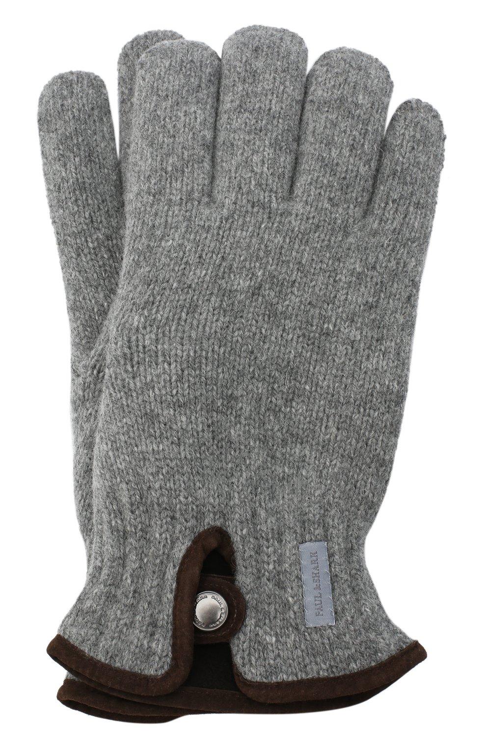 Мужские шерстяные перчатки PAUL&SHARK светло-серого цвета, арт. I20P7201/HC7 | Фото 1