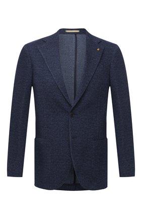 Мужской пиджак из шерсти и хлопка SARTORIA LATORRE темно-синего цвета, арт. JEF74 JA3133 | Фото 1