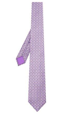 Мужской шелковый галстук ZILLI фиолетового цвета, арт. 51099/TIE | Фото 2 (Материал: Текстиль; Принт: С принтом)