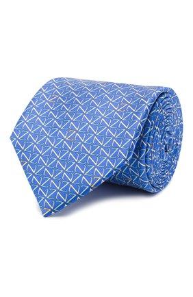 Мужской шелковый галстук ZILLI синего цвета, арт. 51090/TIE | Фото 1