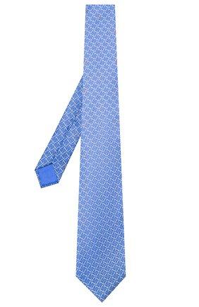 Мужской шелковый галстук ZILLI синего цвета, арт. 51090/TIE | Фото 2