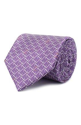 Мужской шелковый галстук ZILLI фиолетового цвета, арт. 51090/TIE | Фото 1 (Материал: Текстиль; Принт: С принтом)