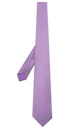 Мужской шелковый галстук ZILLI фиолетового цвета, арт. 51090/TIE | Фото 2 (Материал: Текстиль; Принт: С принтом)