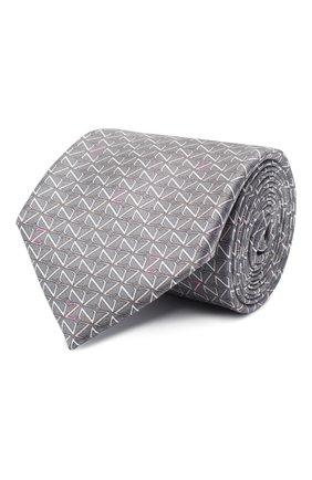 Мужской шелковый галстук ZILLI серого цвета, арт. 51090/TIE | Фото 1