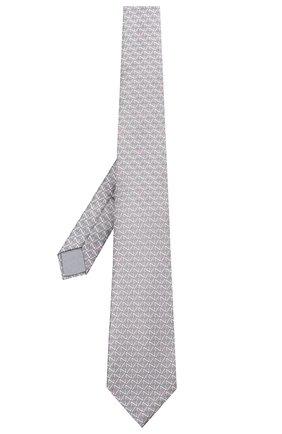 Мужской шелковый галстук ZILLI серого цвета, арт. 51090/TIE | Фото 2